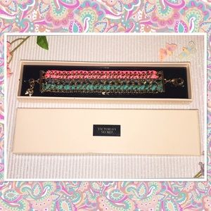 Victoria's Secret Gold Woven Ribbon Bracelet